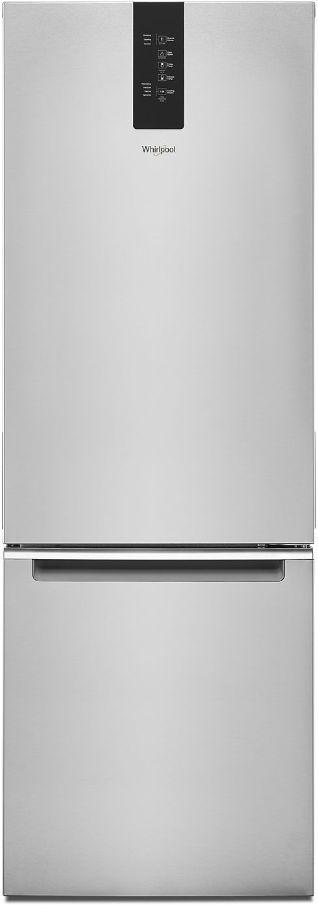 Whirlpool® 12.98 Cu. Ft. Fingerprint Resistant Stainless Steel Counter Depth Bottom Freezer Refrigerator-WRB533CZJZ