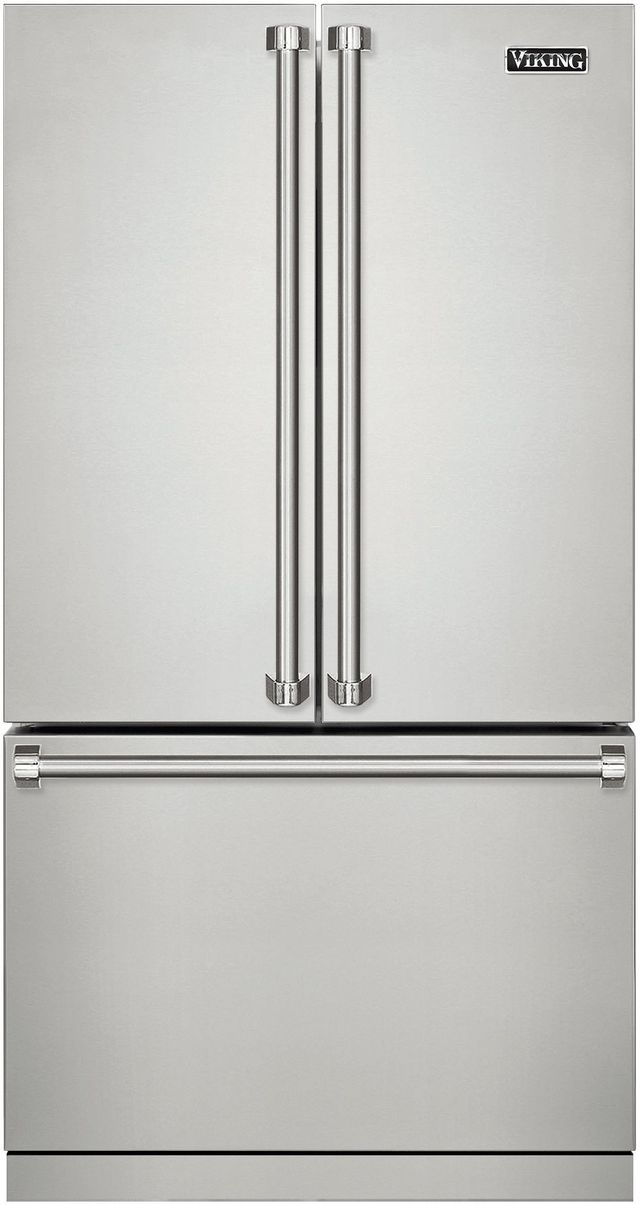 Viking® 3 Series 22.1 Cu. Ft. Freestanding French Door Bottom Freezer Refrigerator-Stainless Steel-RVRF3361SS