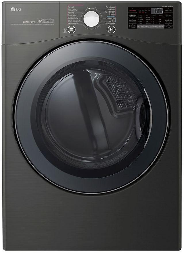 Sécheuse électrique LG® de 7,4 pi³ - Acier inoxydable noir-DLEX3900B