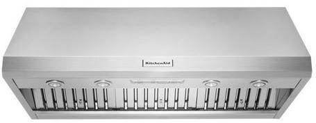 "KitchenAid® 48"" Stainless Steel Wall Mounted Canopy Range Hood-KVWC908JSS"