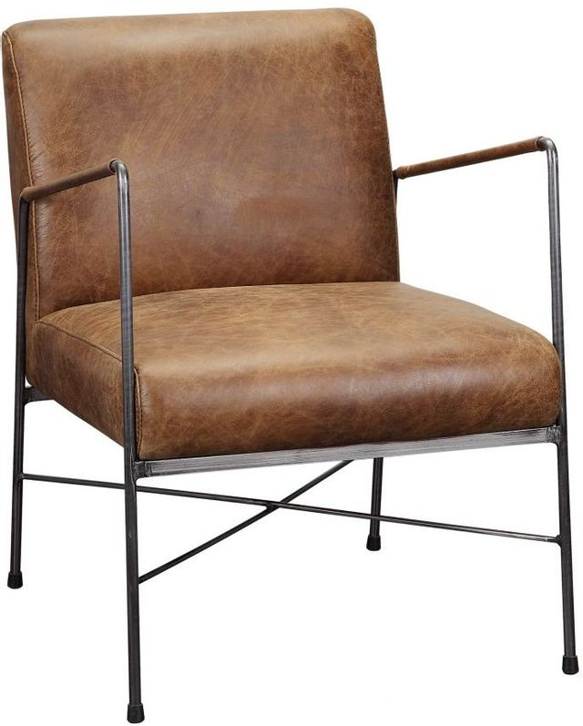 Chaise capitaine Dagwood en cuir brun Moe's Home Collections®-PK-1089-14