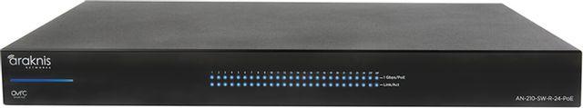 SnapAV Araknis Networks® 210 Series Black 24+2 Rear Ports Websmart Gigabit Switch with Partial PoE+-AN-210-SW-R-24-POE