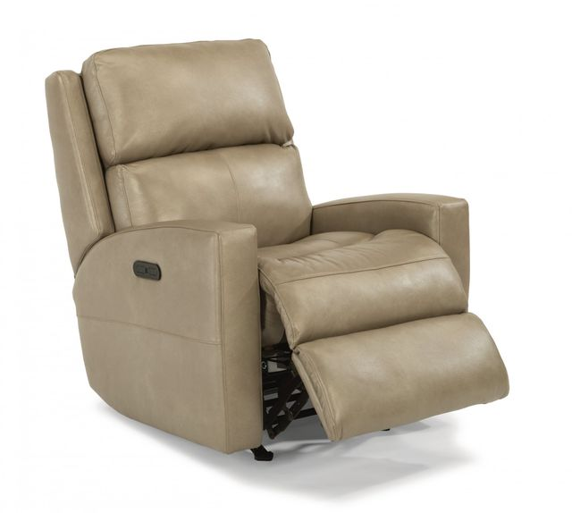 Flexsteel® Catalina Leather Power Rocking Recliner with Power Headrest-3900-51H