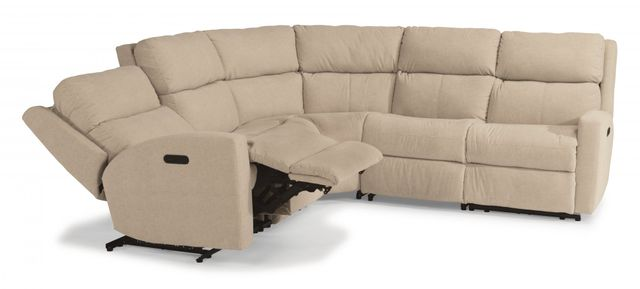 Flexsteel® Catalina Leather Power Reclining Sectional with Power Headrests-3900-SECTPH