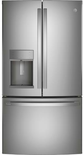 GE Profile™ 27.7 Cu. Ft. Fingerprint Resistant Stainless Steel French Door Refrigerator-PFE28KYNFS
