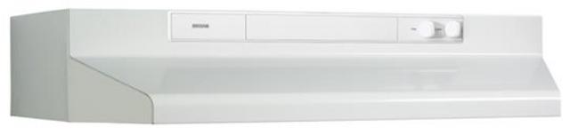 Hotte de cuisinière sous-armoire Broan® de 30 po - Blanc-BU330WW