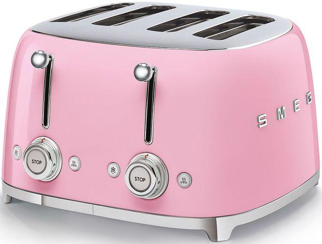 Smeg 50's Retro Style Aesthetic Pink 4x4 Slice Toaster-TSF03PKUS