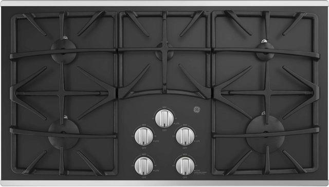 "GE® 36"" Built-In Gas Cooktop-Stainless Steel-JGP5536SLSS"