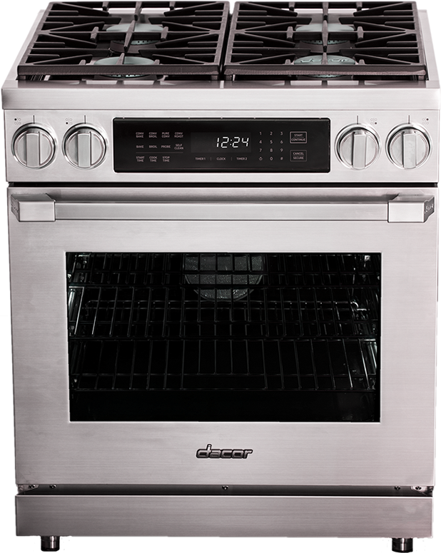 """Dacor® Professional 30"""" Dual Fuel Pro Range-Stainless Steel-HDPR30S/NG"""