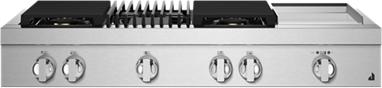 "JennAir® NOIR™ 48"" Stainless Steel Gas Rangetop-JGCP748HM"
