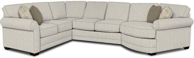 England Furniture Co. Brantley 4 Piece Culpepper Snow/Alvarado Mineral/Alvarado Mineral Sectional-5630-28-22-43-95+8613+8564+8601