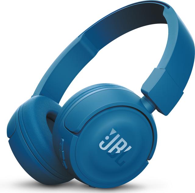 JBL® T450BT Wireless On-Ear Bluetooth Headphones-Blue-JBLT450BTBLU