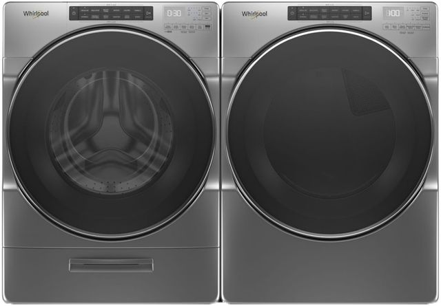 Whirlpool® Chrome Shadow Front Load Laundry Pair-WHLAUWGD6620HC