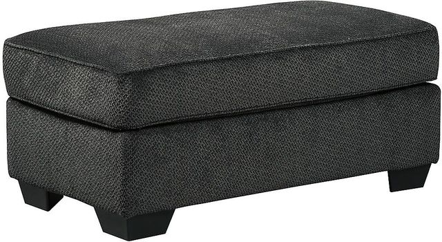 Benchcraft® Charenton Charcoal Ottoman-1410114