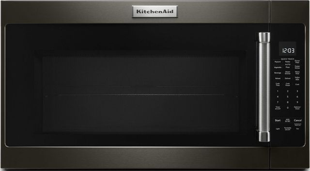 KitchenAid® 2.0 Cu. Ft. Black Stainless Steel with PrintShield™ Finish Over The Range Microwave-KMHS120EBS