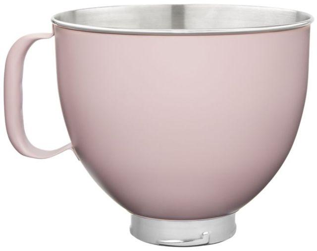 KitchenAid® Matte Dried Rose 5 Quart Colorfast Finish Stainless Steel Bowl-KSM5SSBDR