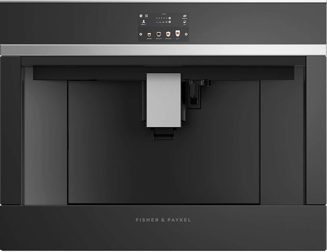 "Fisher & Paykel 24"" Built in Coffee Machine-Black Glass-EB24DSXB1"