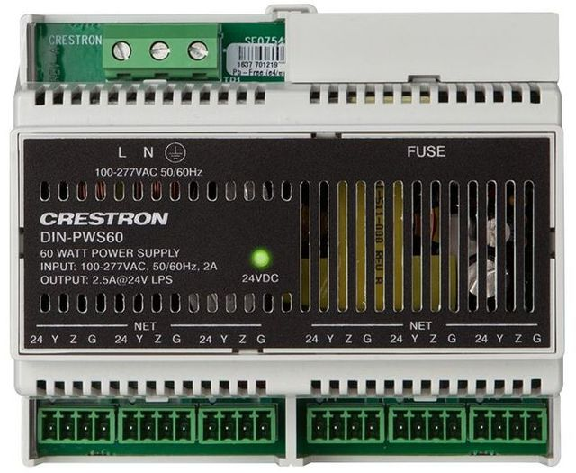 Crestron® DIN Rail 60 Watt Cresnet® Power Supply-DIN-PWS60