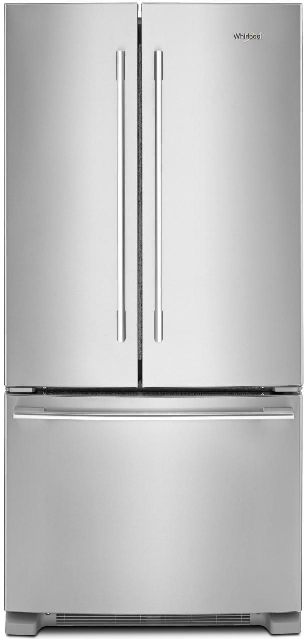 Whirlpool® 22.1 Cu. Ft. French Door Refrigerator-Fingerprint Resistant Stainless Steel-WRFA32SMHZ