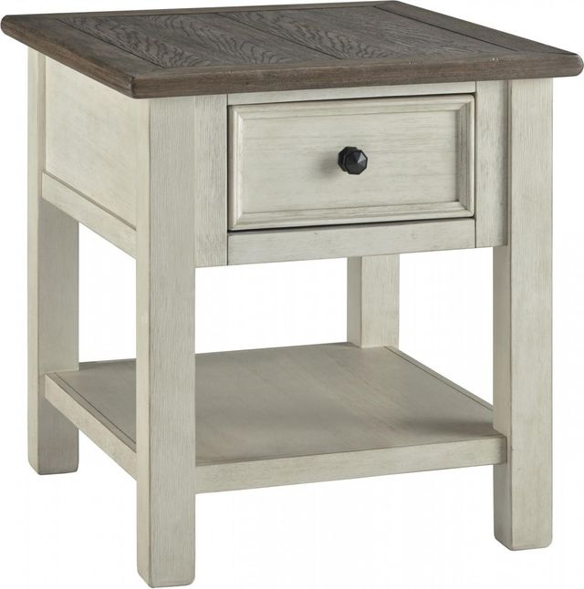Signature Design by Ashley® Bolanburg Two-tone Rectangular End Table-T637-3
