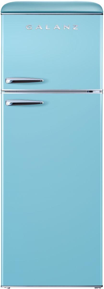 Galanz 12 Cu. Ft. Bebop Blue Retro Top Mount Refrigerator-GLR12TBEEFR