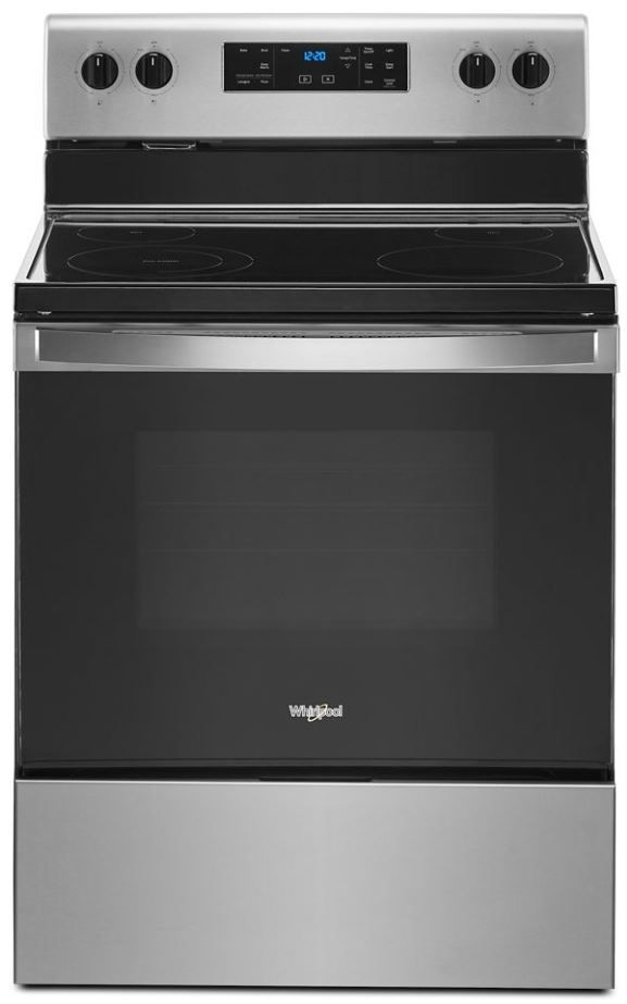 """Whirlpool® 30"""" Stainless Steel Free Standing Electric Range-WFE515S0JS"""