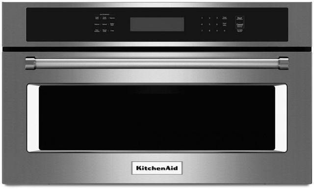 """KitchenAid® 26.75"""" Stainless Steel Built In Microwave Oven-KMBP107ESS"""