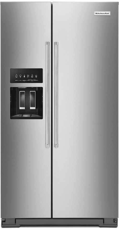 KitchenAid® 24.8 Cu. Ft. Stainless Steel with PrintShield™ Finish Side-by-Side Refrigerator-KRSF705HPS