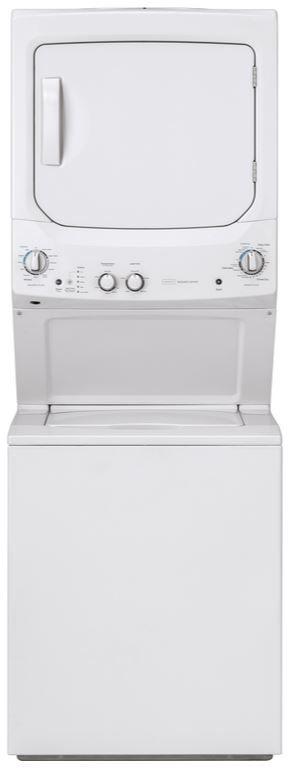 Crosley® 9.7 Cu. Ft. White Stack Laundry-XUD27ESSMWW
