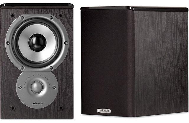 "Polk Audio® TSI Series TSI100 Black 5.25"" Bookshelf Speaker (Pair)-AM3205"