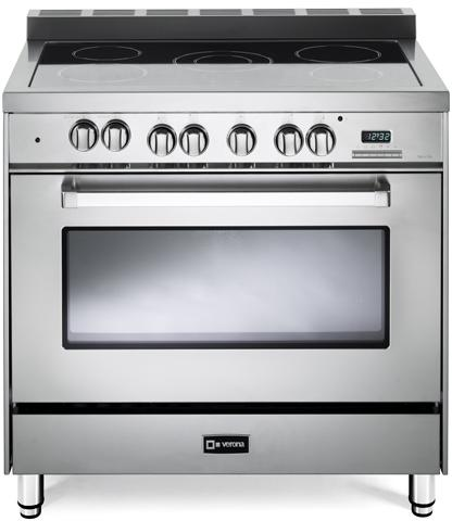 """Verona® 36"""" Free Standing Electric Single Oven Range-Stainless Steel-VEFSEE365SS"""