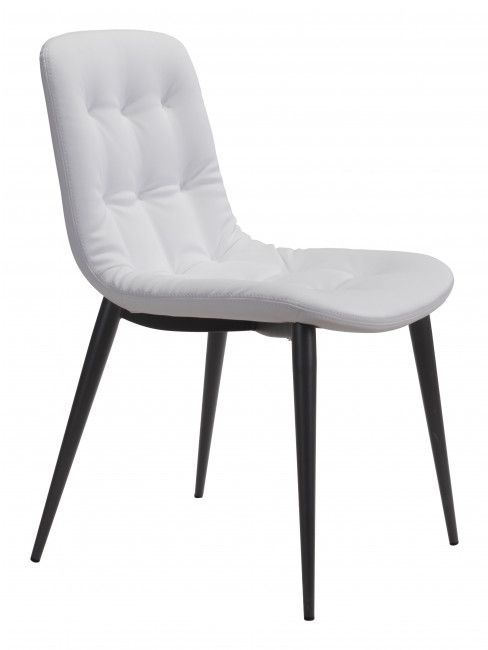 Zuo® Tangiers White Set of 2 Dining Chairs-101083
