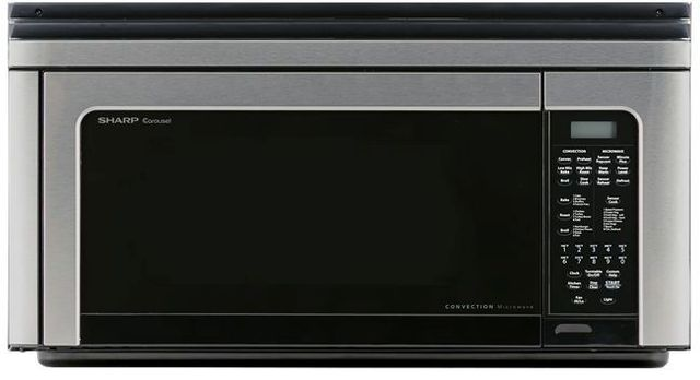 Sharp® Carousel® 1.1 Cu. Ft. Stainless Steel Over The Range Microwave Oven-R1881LSY