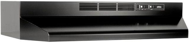 "Broan® 41000 Series 36"" Black Ductless Under Cabinet Range Hood-413623"