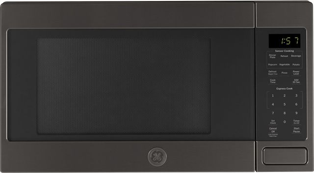 GE® Countertop Microwave-Black Stainless Steel-JES1657BMTS