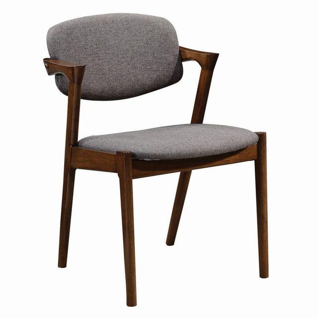 Coaster® Malone Dark Walnut Side Chair-105352