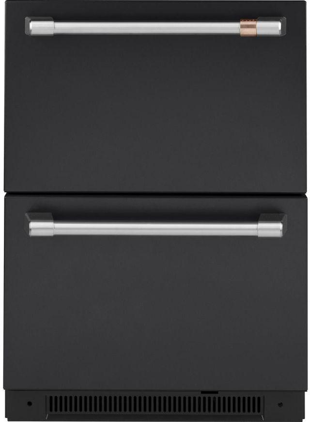Réfrigérateur sous le comptoir de 24 po Cafe™ de 5,7 pi³ - Noir mat-CDE06RP3ND1