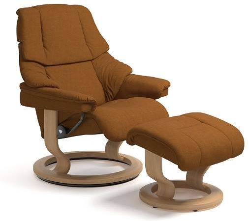 Stressless® by Ekornes® Reno Large Classic Base Chair and Ottoman-1164015