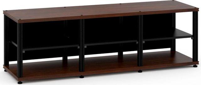 Salamander Designs® Synergy Triple 20 AV Cabinet-Dark Walnut/Black-SL20W/B