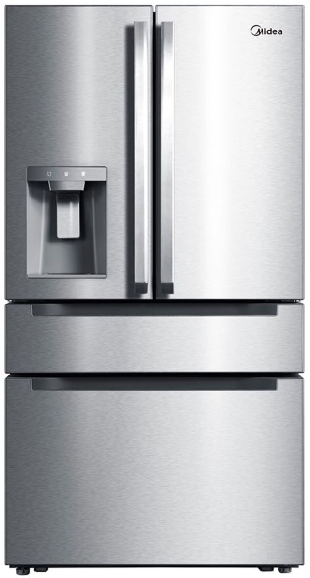 Midea® 21.6 Cu. Ft. Stainless Steel Counter Depth French Door Refrigerator-MRQ22D7AST