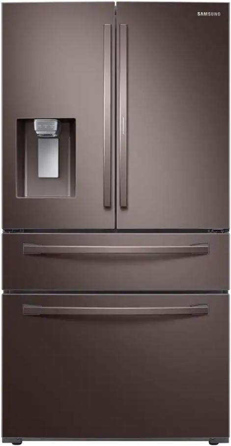 Samsung Tuscan 22.4 Cu. Ft. Tuscan Stainless Steel 4-Door Counter Depth French Door Refrigerator-RF22R7351DT