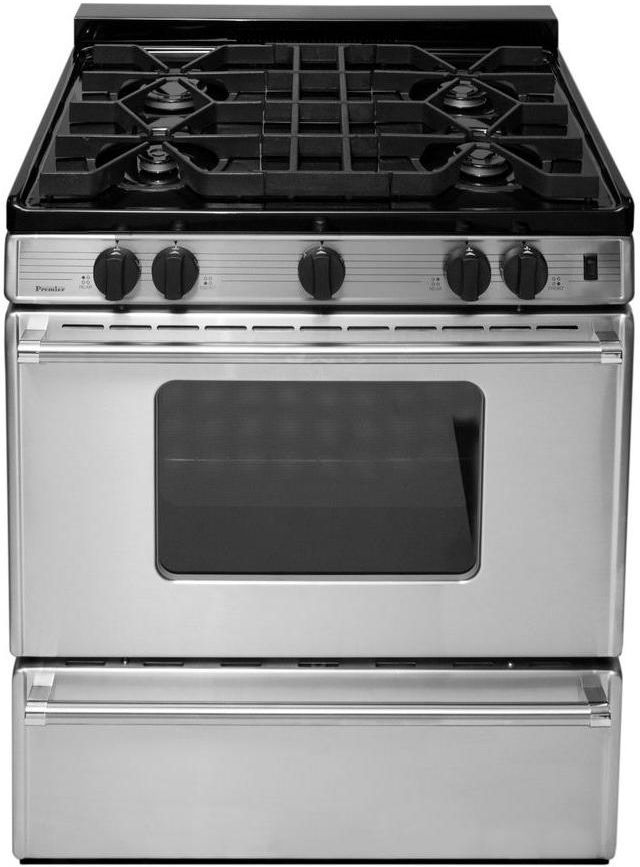 """Premier Pro Series 30"""" Stainless Steel Pro Style Gas Range-P30S3102PS"""