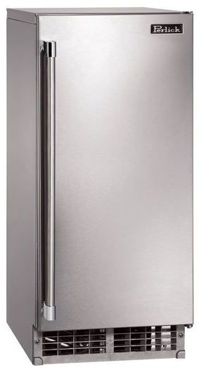 """Perlick® Signature Series 15"""" Clear Ice Maker-Stainless Steel-H50IMS-R"""
