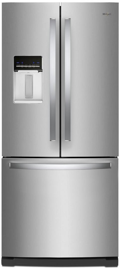 Whirlpool® 19.68 Cu. Ft. French Door Refrigerator-Fingerprint Resistant Stainless Steel-WRF560SEHZ