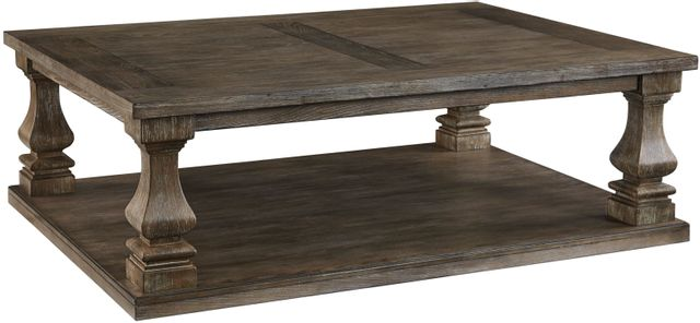 Signature Design by Ashley® Johnelle Weathered Gray Rectangular Cocktail Table-T776-1