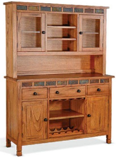 Sunny Designs Sedona Rustic Oak Buffet and Hutch-1903RO2-2