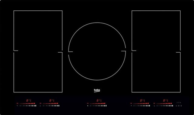 """Beko 36"""" Black Glass Built In Induction Cooktop-BCTI36510"""
