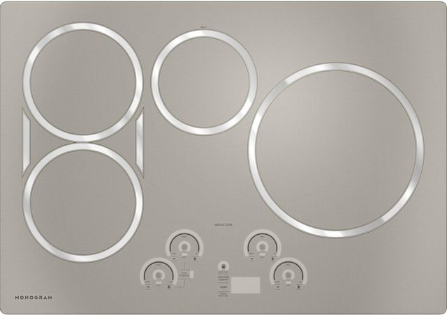 """Monogram® 30"""" Silver Induction Cooktop-ZHU30RSPSS"""