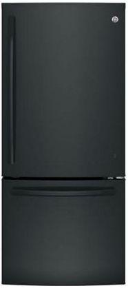 GE® Series 20.9 Cu. Ft. Bottom Freezer Refrigerator-Black-GDE21EGKBB