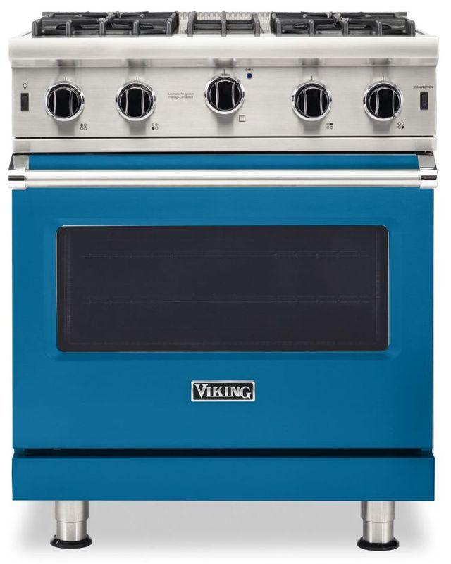 "Viking® 5 Series 30"" Alluvial Blue Pro Style Liquid Propane Gas Range-VGIC53024BABLP"